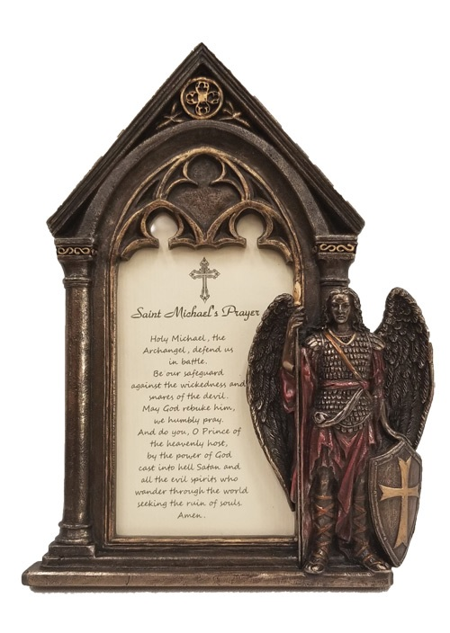 St. Michael Photo Frame Bronze