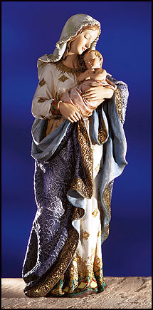 23.25'' Madonna and Child Statue