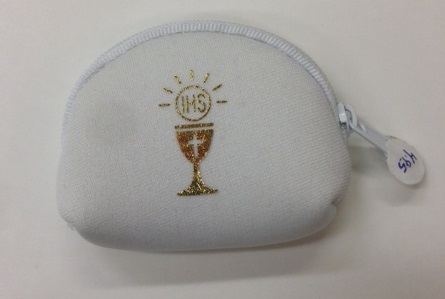 White First Communion Zippered Pouch