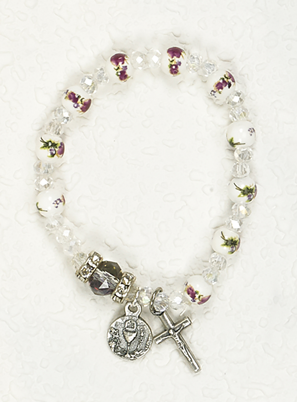 Fl Ceramic First Communion Bracelet