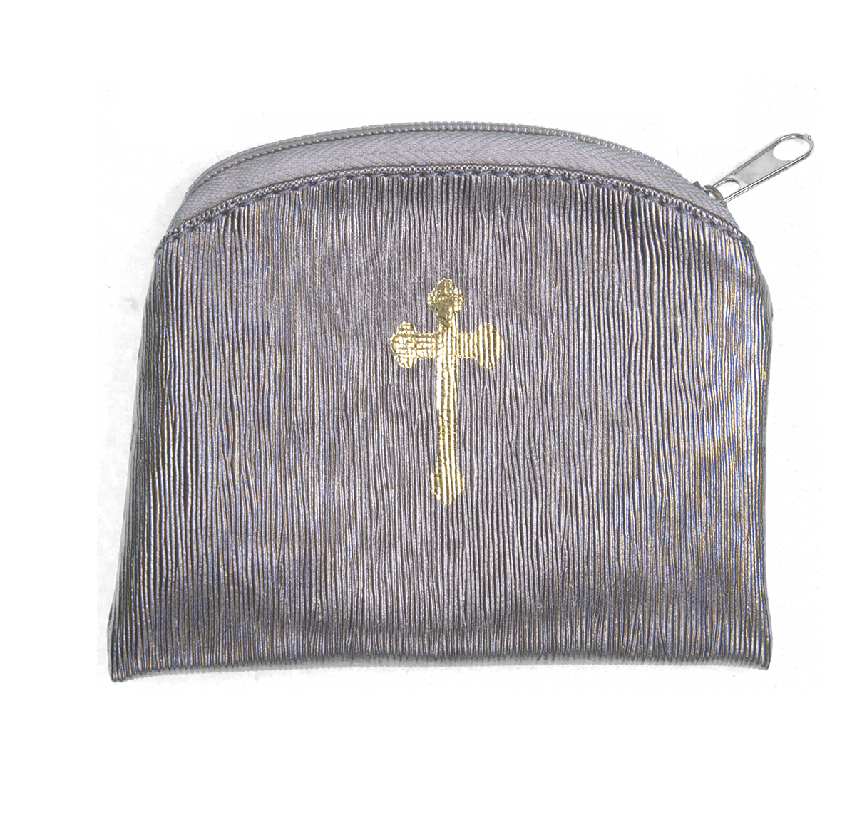 Silk Rosary Case Pewter