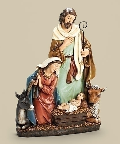 24'' Holy Family with Donkey and Ox