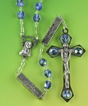 Blue Glass Bead Mystery Rosary