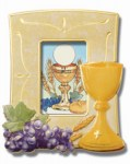 First Communion Frame with Chalice and Grapes