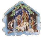 Nativity Scene with Shepherds Plaque