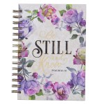 Floral Be Still Wirebound Journal