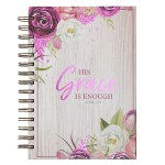 Floral His Grace Wirebound Journal