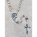 7mm Crystal Cloisonné Pink Rosary
