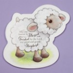 Baptism Lamb Wall Plaque