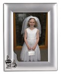 Silver Plated First Communion Photo Frame