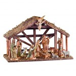 6'' Nativity with Wood Stable (12 pieces)
