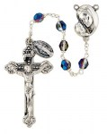 6mm Crystal Mother's Embrace Sapphire Rosary