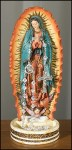 8'' Our Lady of Guadalupe Rosary Holder