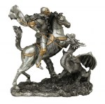 11.5'' St. George Statue - Pewter