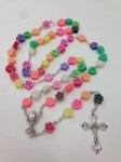 Flower Bead First Communion Rosary