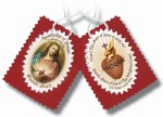Scapular Sacred Heart Badge