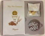 White Keepsake First Communion Set for Girls
