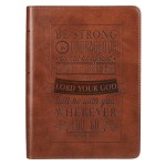 Brown Be Strong and Courageous Classic Journal
