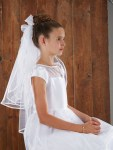 26'' Back Bow First Communion Veil