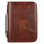 The Path of Life Brown Faux Leather Classic Bible Cover