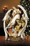 15'' Angel with Nativity Scene