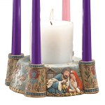9'' Nativity Advent Candle Holder