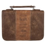 Trust In The Lord Two-Tone Brown Faux Leather Classic Bible Cover