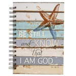 Coastal Be Still Wirebound Journal