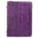 Faith Purple Faux Leather Fashion Bible Cover