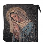 Praying Madonna Tapestry Rosary Case