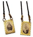 Gold Metal Scapular on Cord